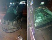 В Херсоні нетверезий молодий водій розбив авто о рекламний щит