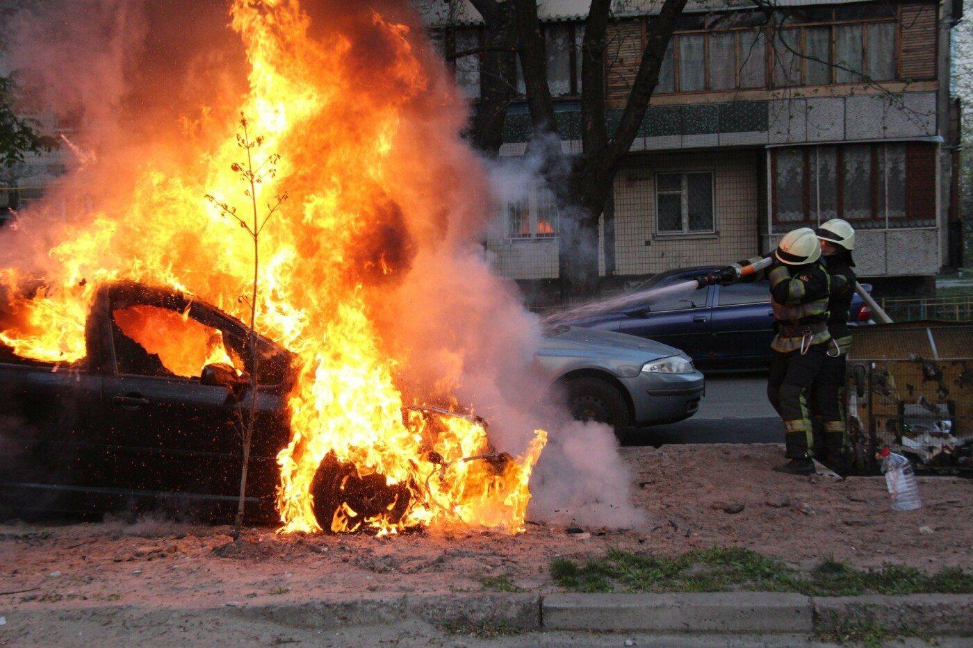 Суворовский район,пожар автомобиля,Херсон
