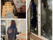 Херсонец во время семейной ссоры разбил окна в доме