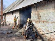 На Херсонщине горел склад с отходами подсолнечника