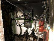 В Херсоне горела электрощитовая в подвале многоэтажки