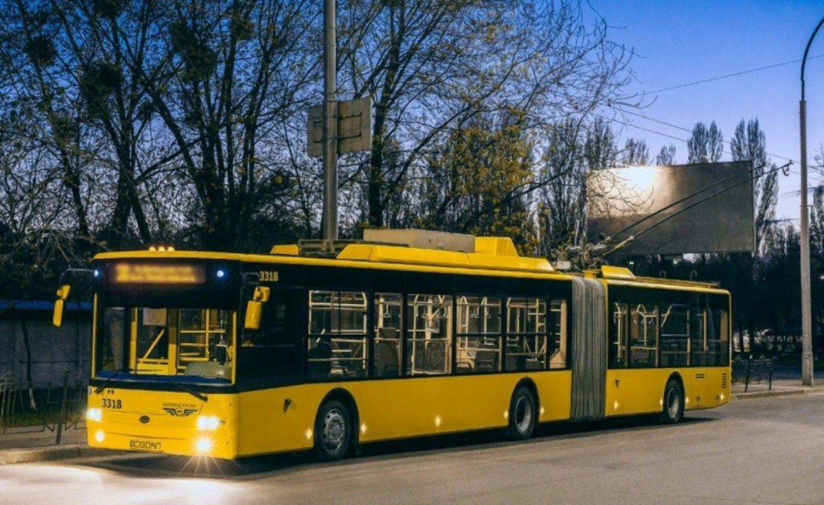 Херсон,троллейбусы,ночная смена