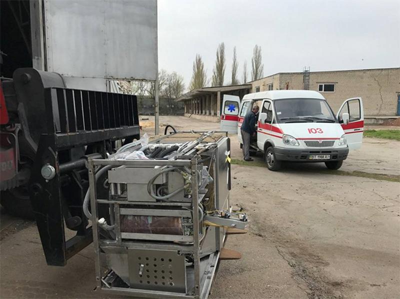 Унікальне медичне обладнання доставили з Німеччини на Херсонщину
