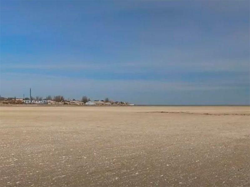 Геническ, море, отлив