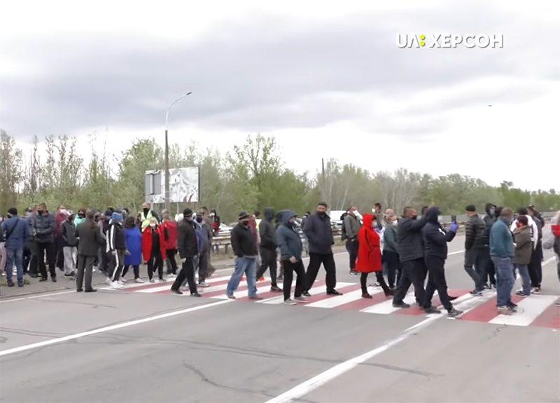 акція протесту, аграрії, мост