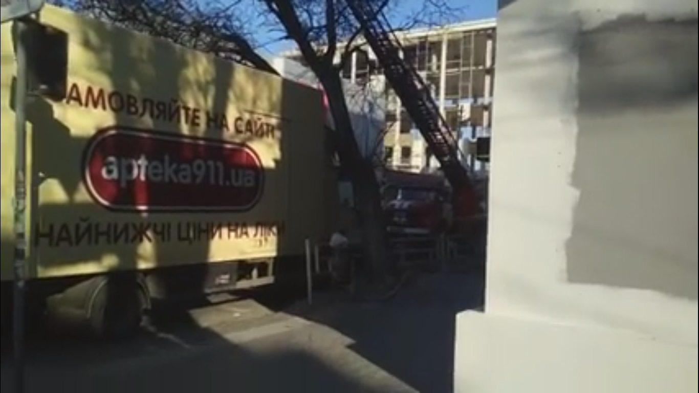 херсон, грузовик, дерево