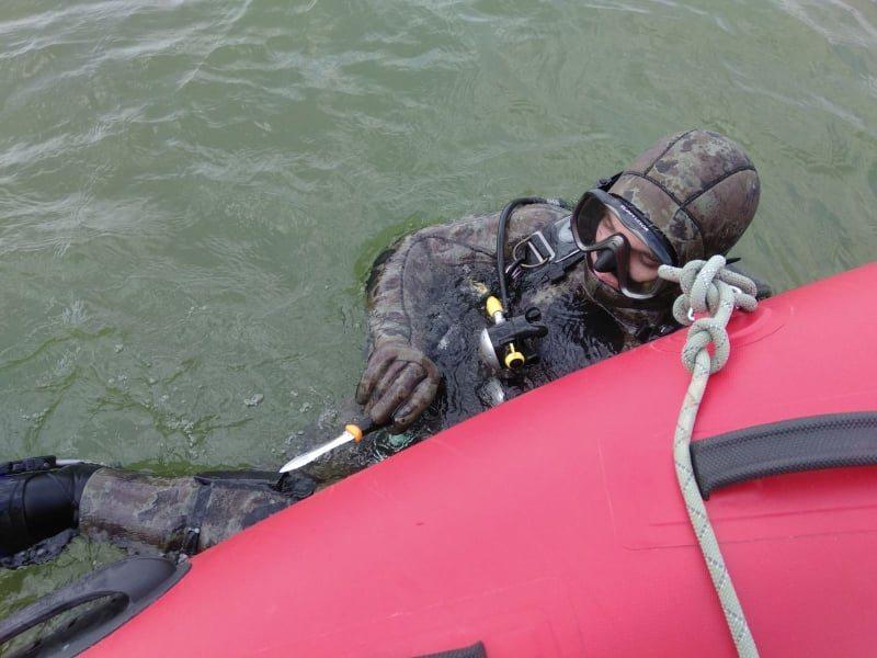 утопление, залив, водолазы