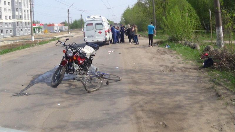 мотоцикл, велосипед, авария
