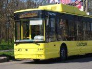Херсонские троллейбусы работают в условиях карантина