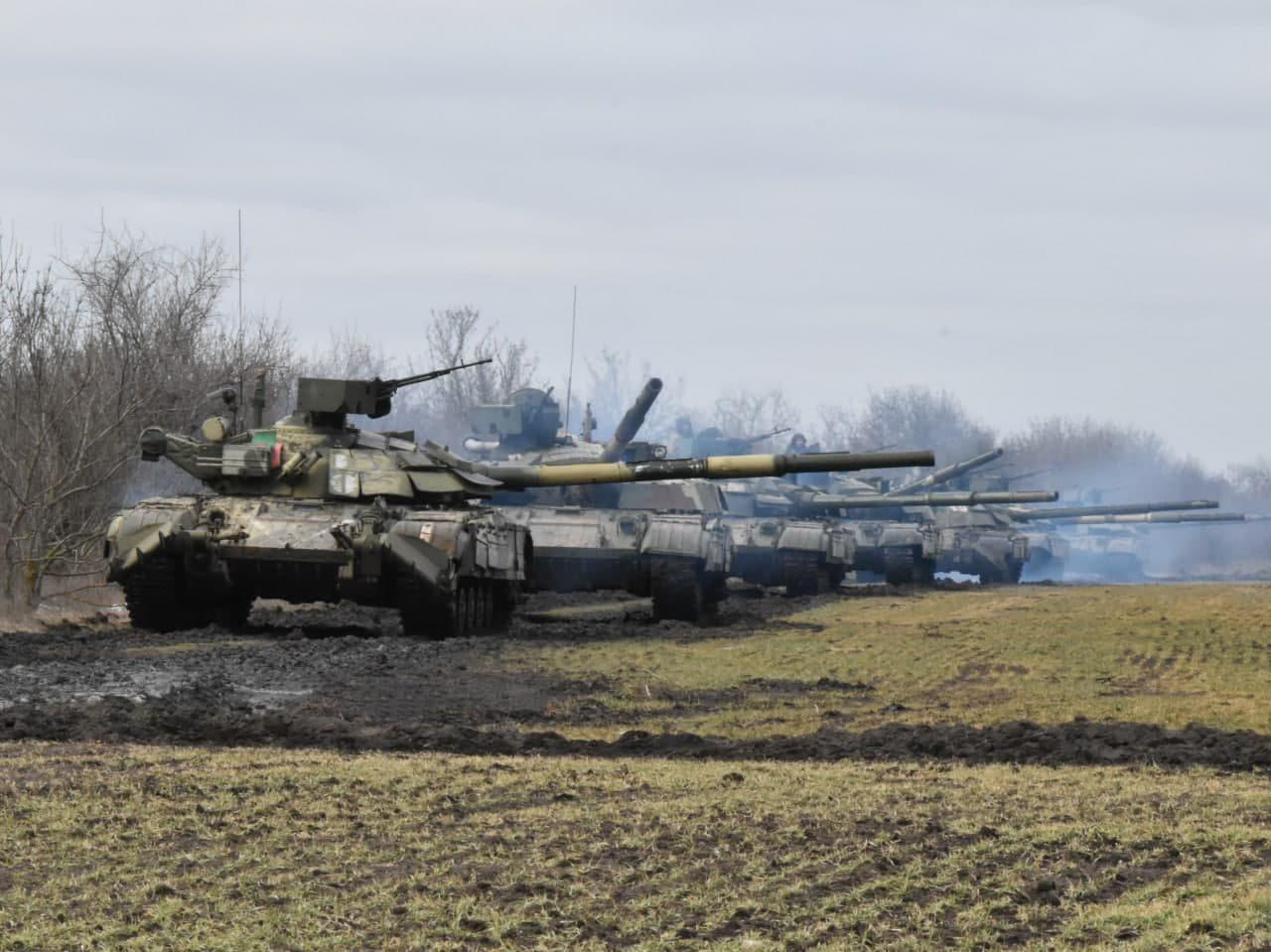 учения, крым, танки, артиллерия