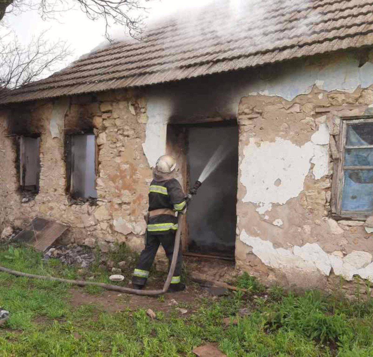 Высокопольский район,пожар дома