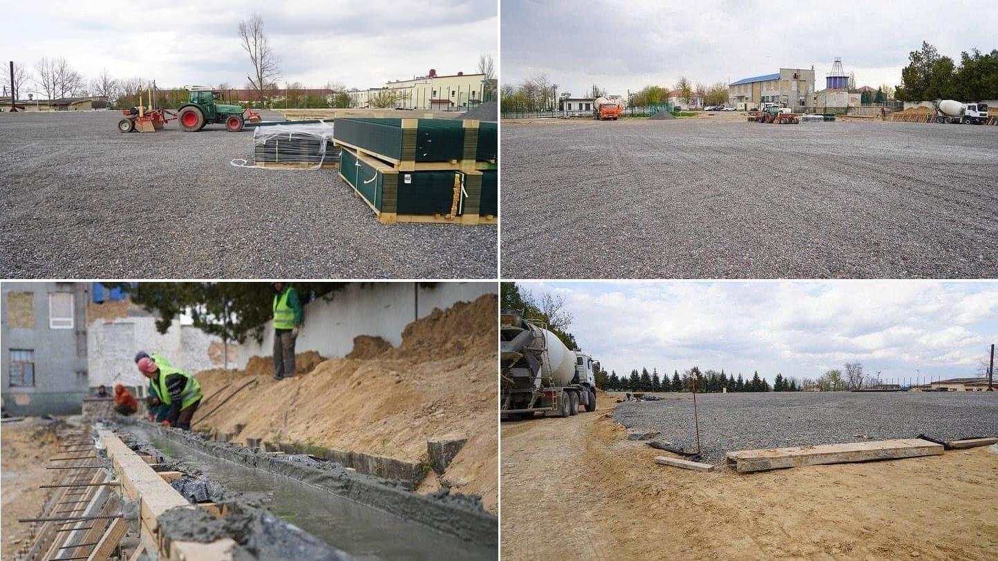 чернобаевка, стадион, строительство