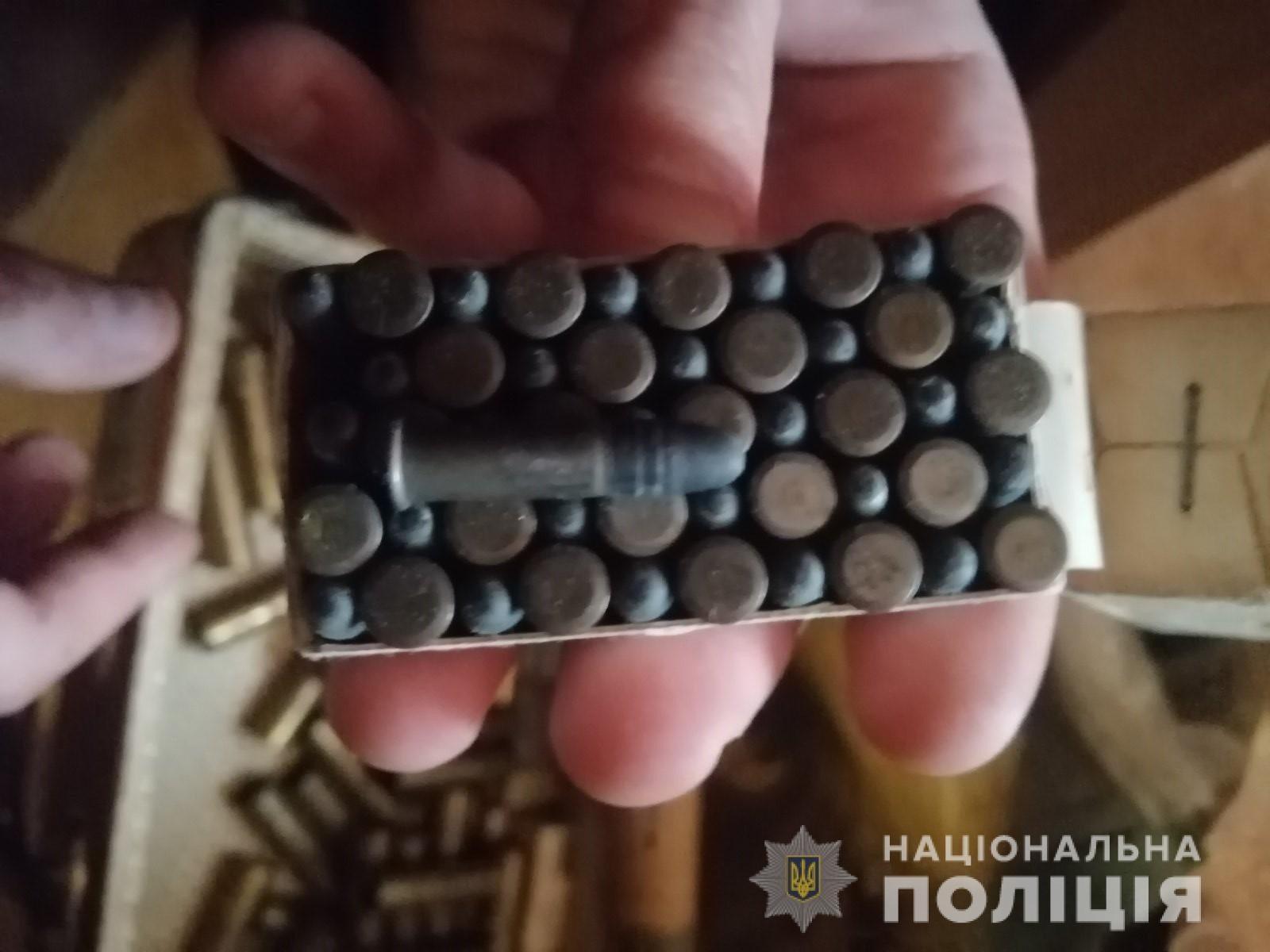 На Херсонщине при расследовании кражи обнаружили боевые патроны