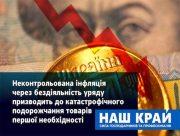 Наш Край: Уряд має захистити українців від зростання цін на товари першої необхідності