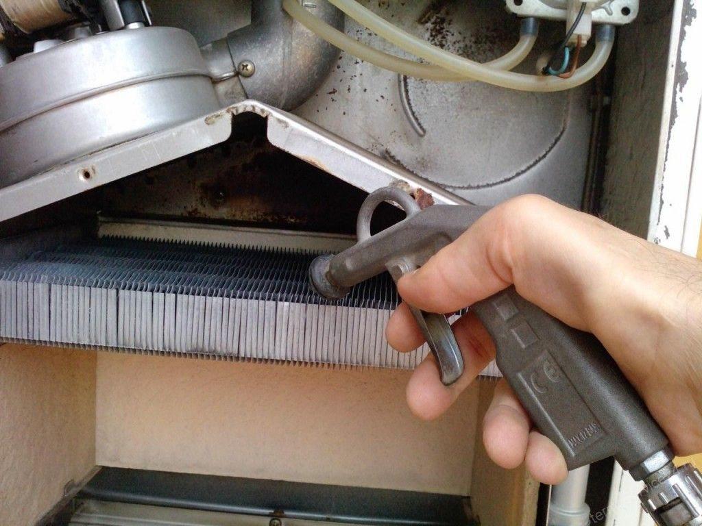 газовый котел, прочистка