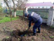 Житель Херсонщины нашёл в огороде артиллерийский снаряд