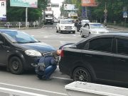 В Херсоне водители обошлись без полиции при ДТП