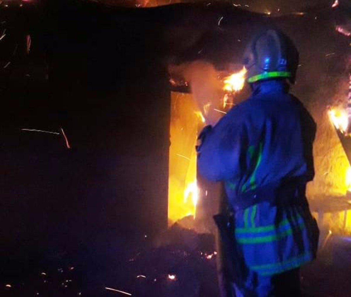 Раденск,Олешковский район,пожар дома