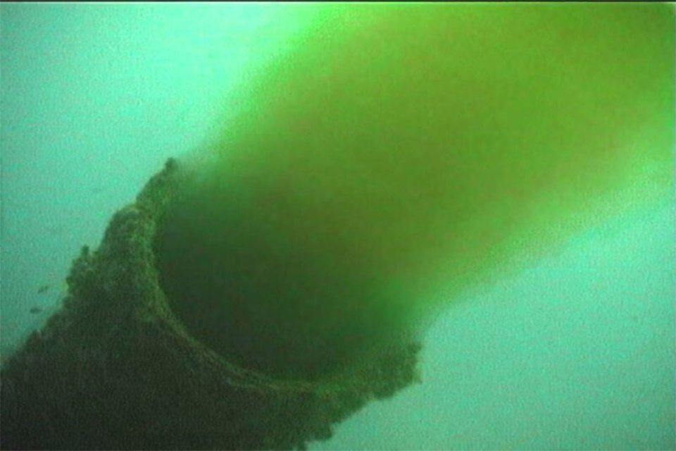 фекалії, Каховське море, забруднення