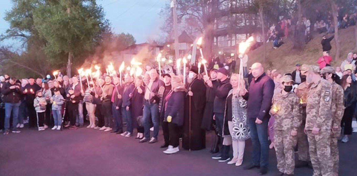 факельное шествие,Новая Каховка,День Победы