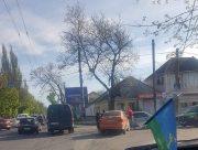 В Херсоне на перекрестке столкнулись три автомобиля