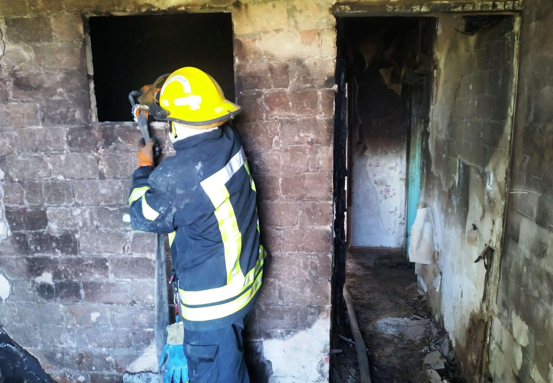Каланчакский район,пожар дома