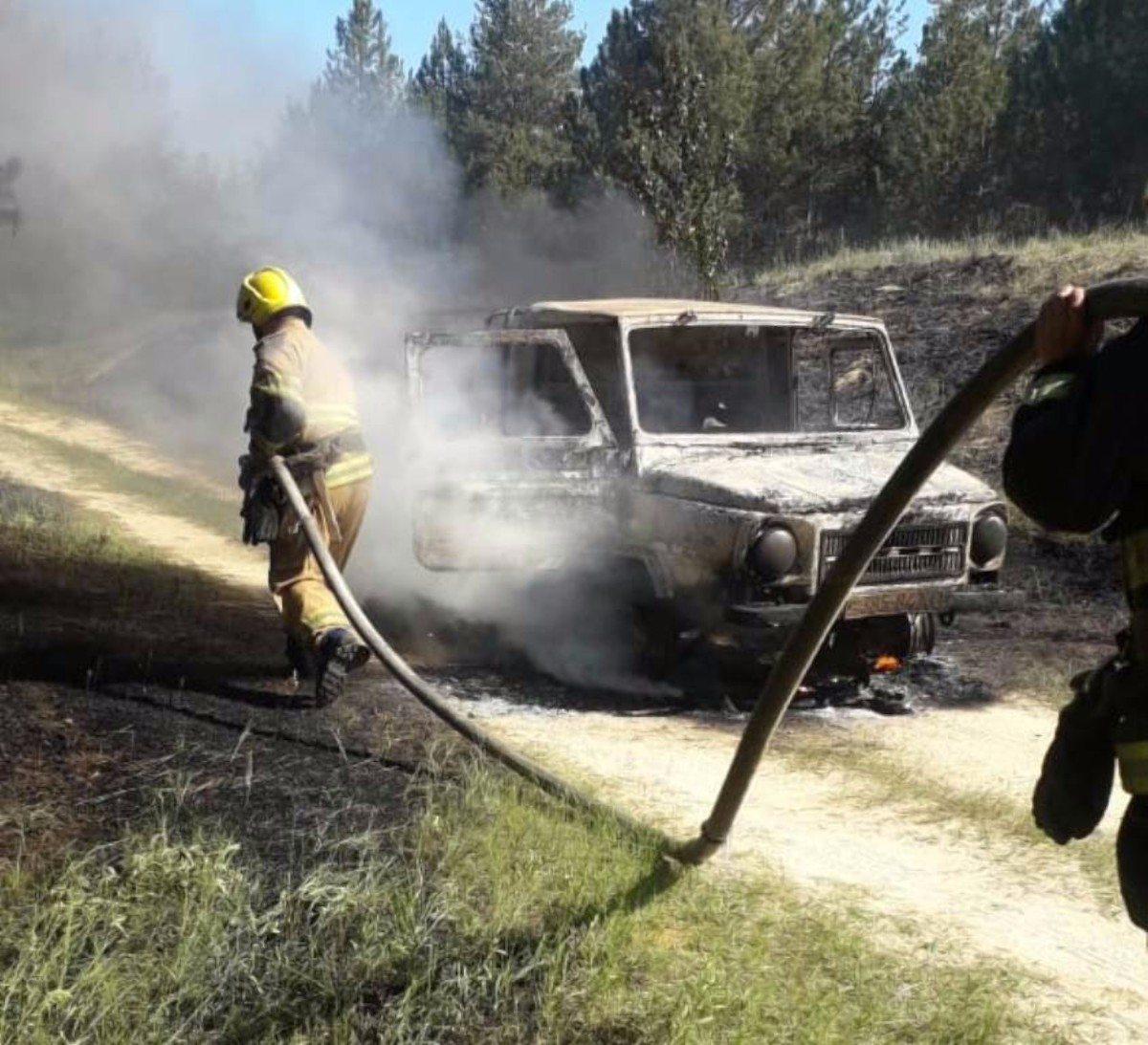 внедорожник,Олешковский район,пожар автомобиля