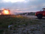 В Херсонской области произошёл пожар в недостроенном аквапарке
