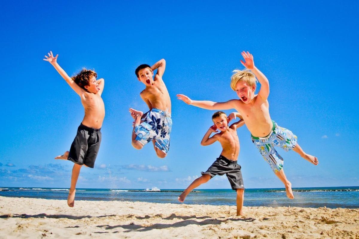 дети, море, отдых, лето, здравницы