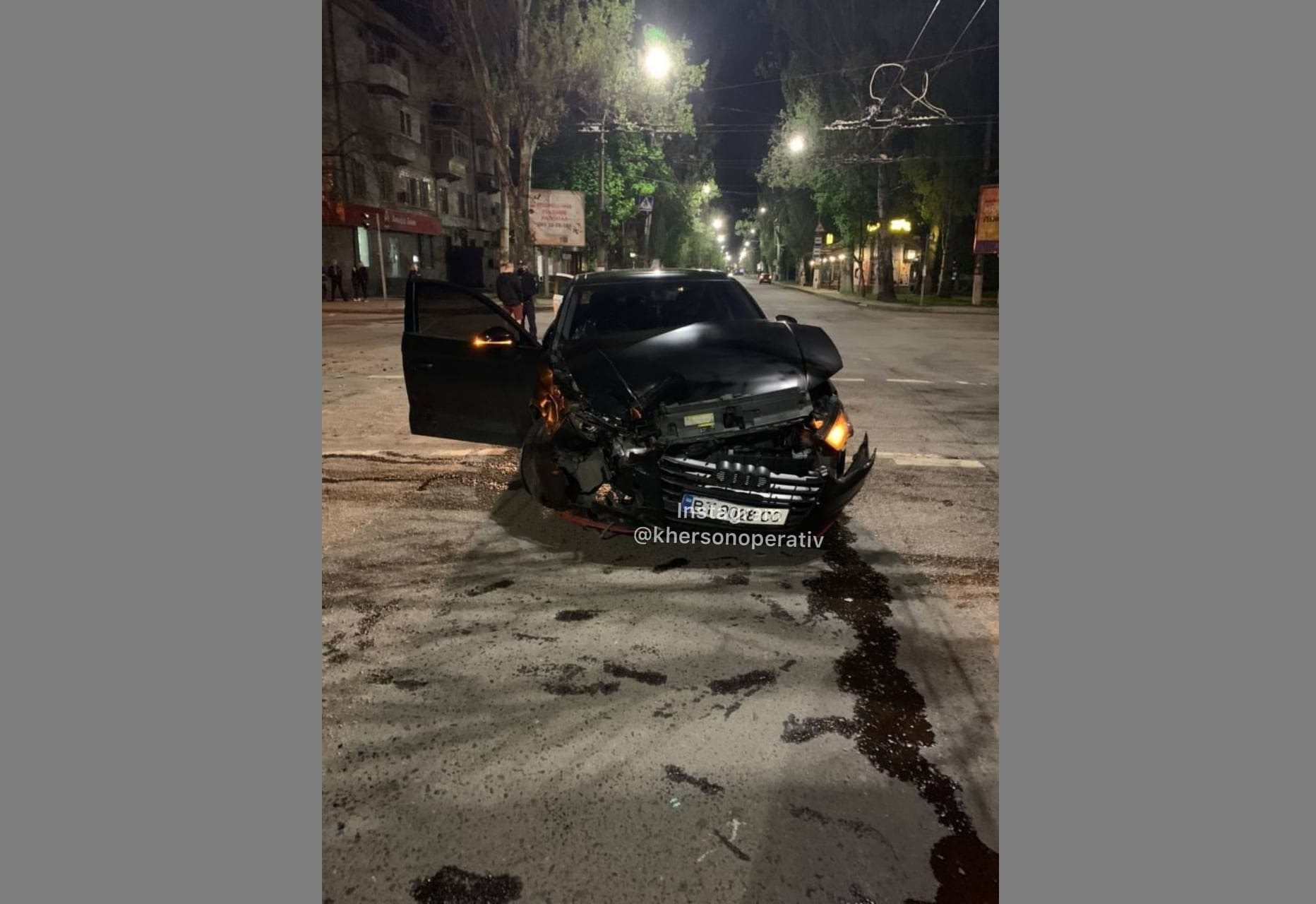 Ночью в Херсоне произошла авария на Ушакова