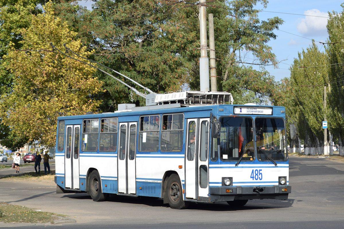 Вандализм в херсонском троллейбусе