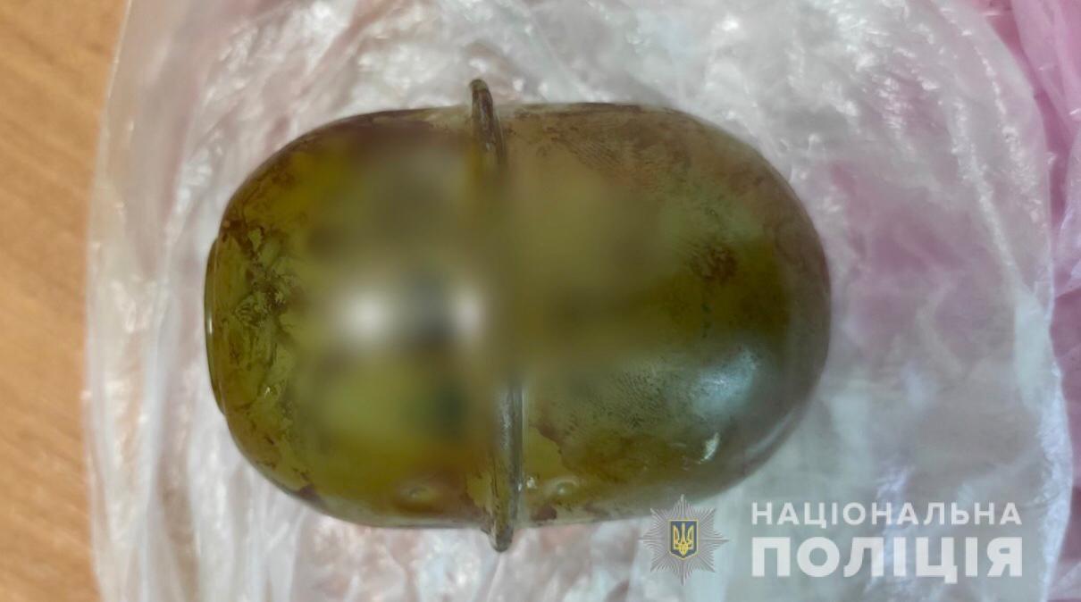 Полиция изъяла у жителя Херсонщины гранату