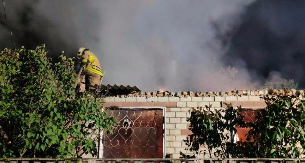 Херсон,Белозёрский район,Федоровка,пожар дома