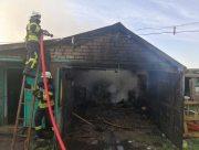 На Херсонщине сгорел гараж