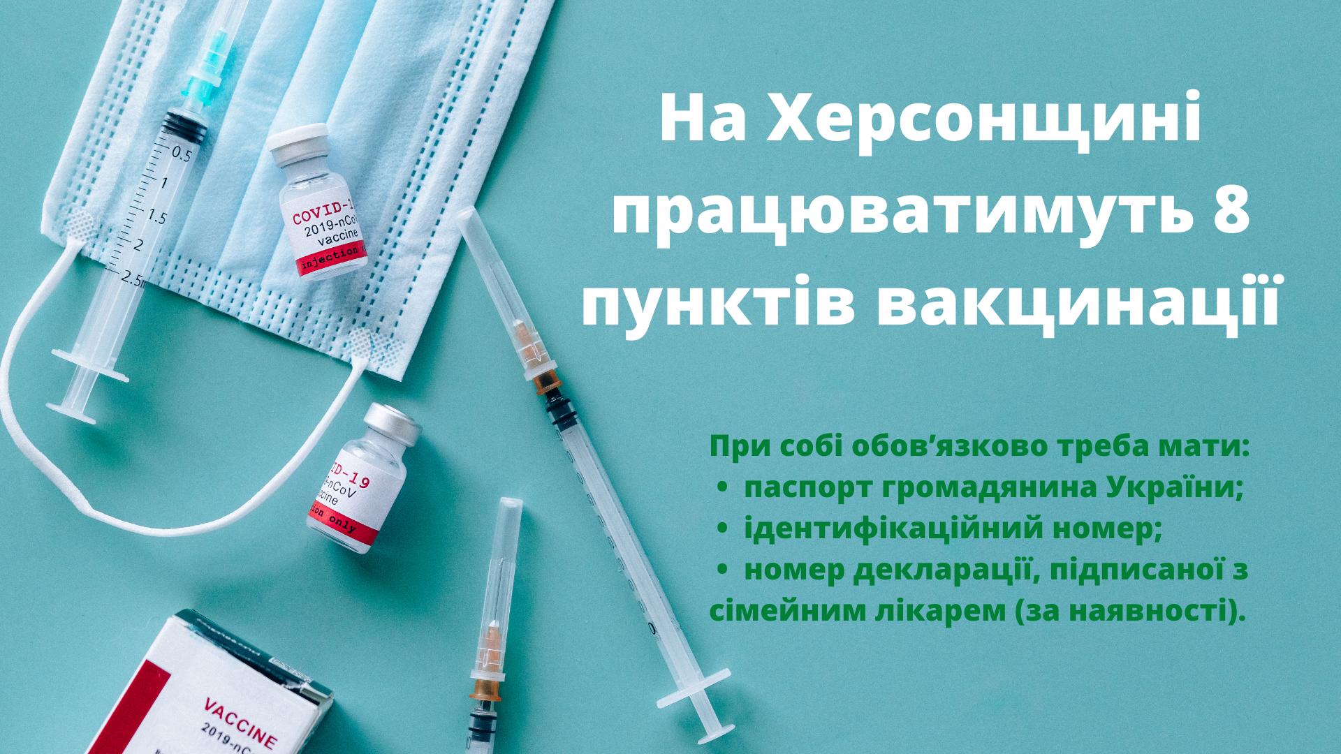 вакцінація, херсон, центри