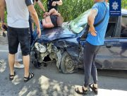 В Херсоне задержали пьяного виновника ДТП, пытавшегося сбежать с места аварии