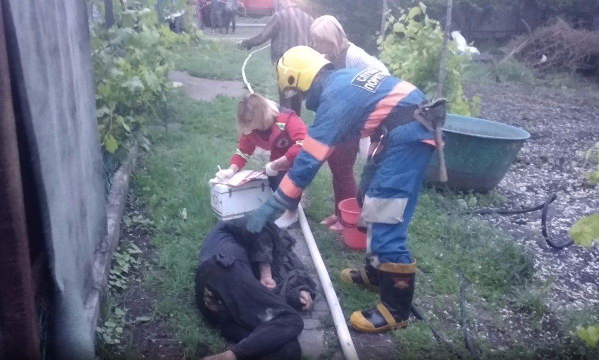 Нововоронцовка,пожар дома,спасение