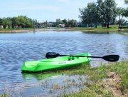На Херсонщині футбольним полем плавають курортники