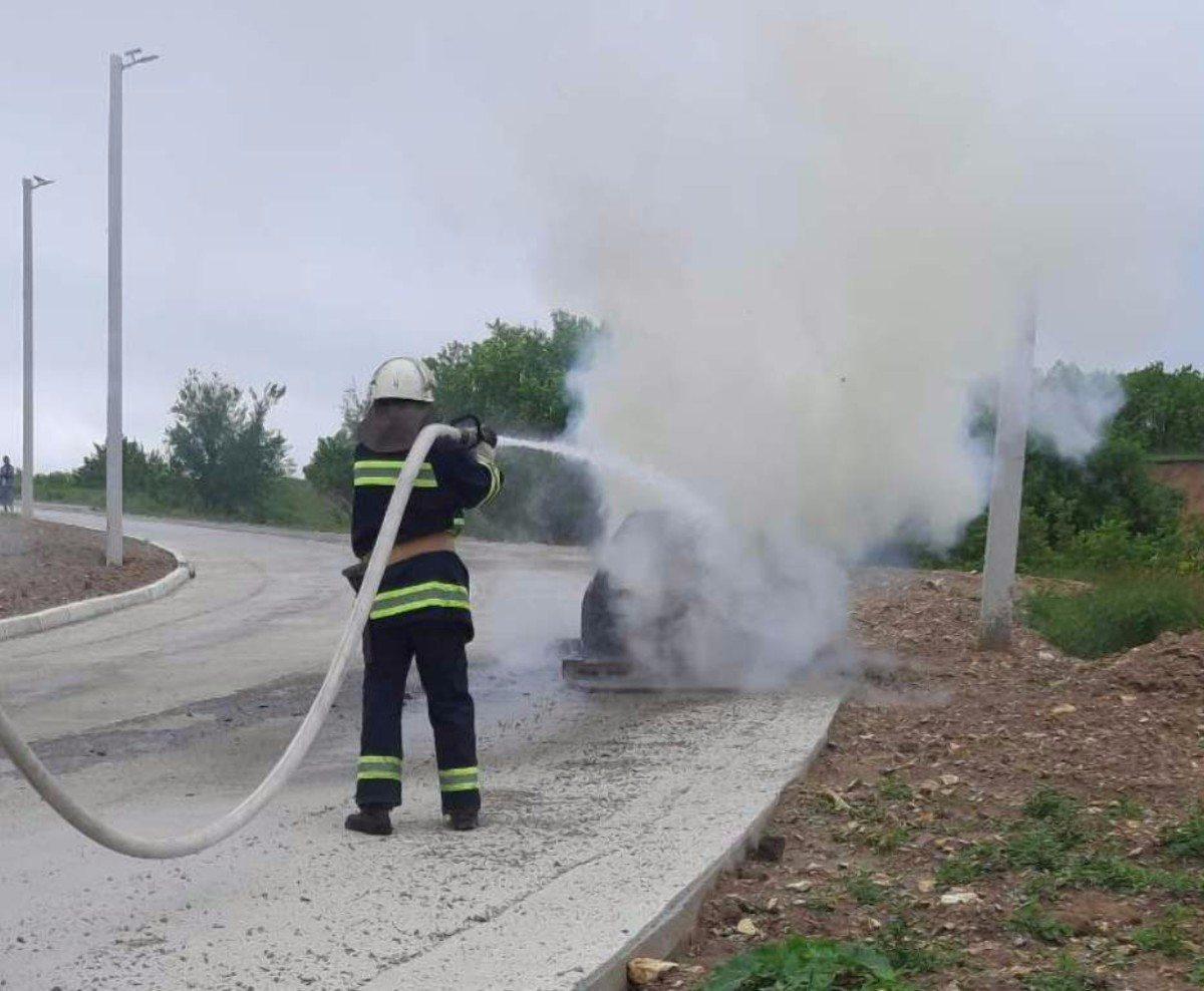 Херсон,Высокопольский район,пожар автомобиля
