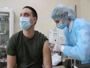 Херсонские нацгвардейцы получили вторую дозу вакцины от COVID-19