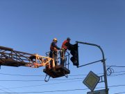 В центре Херсона в ДТП пострадал светофор