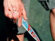 В Херсоне изрезали ножом отца и сына