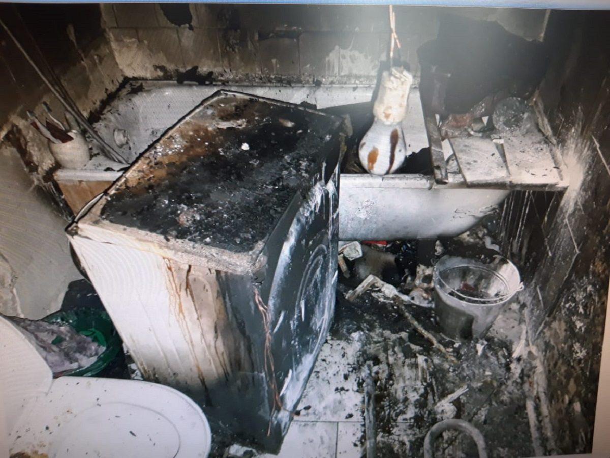 пожар, стиральная машина, шкаф, берислав