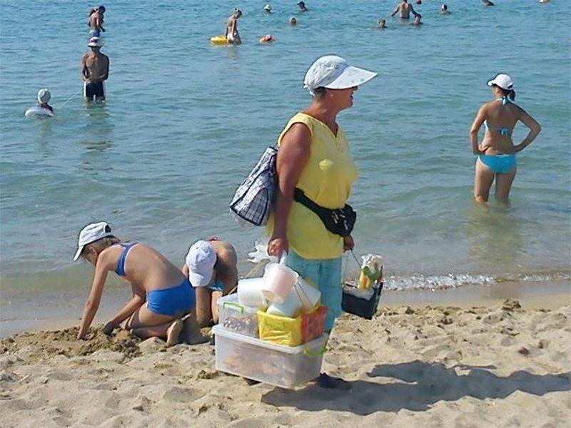 пляж, фастфуд, небезпека