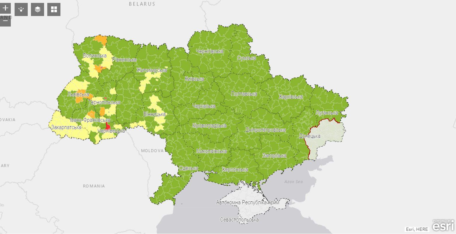 "Херсонщина потрапила до ""зеленої зони"""