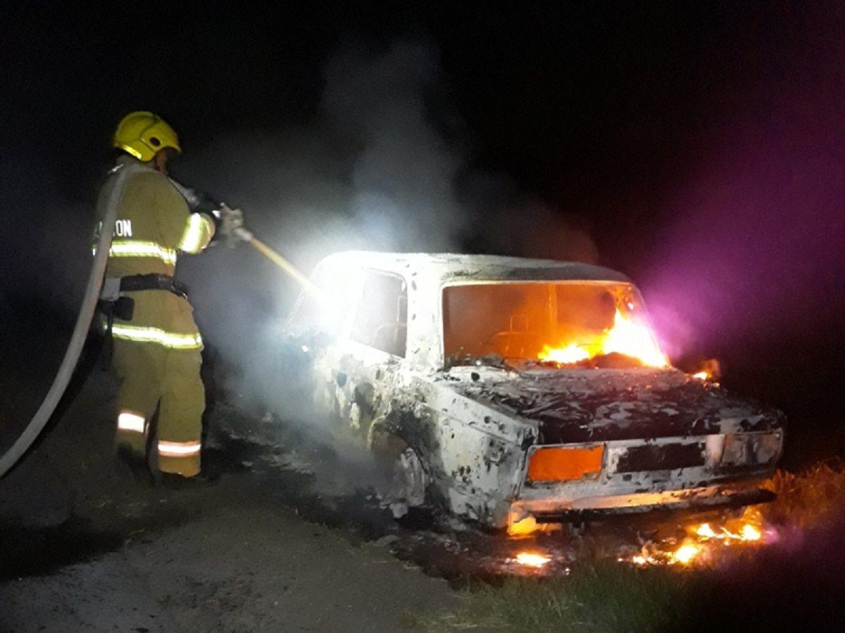 аввтомобиль, пожар, скадовск