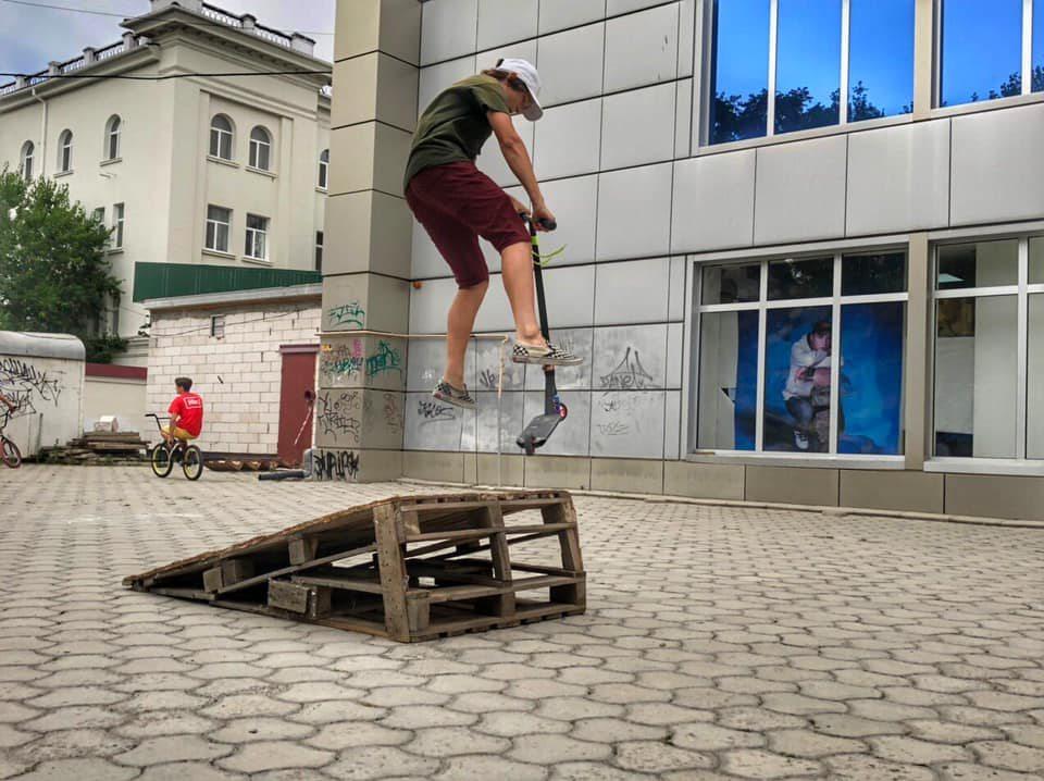скейтпарк, Выбранский, спортсмены