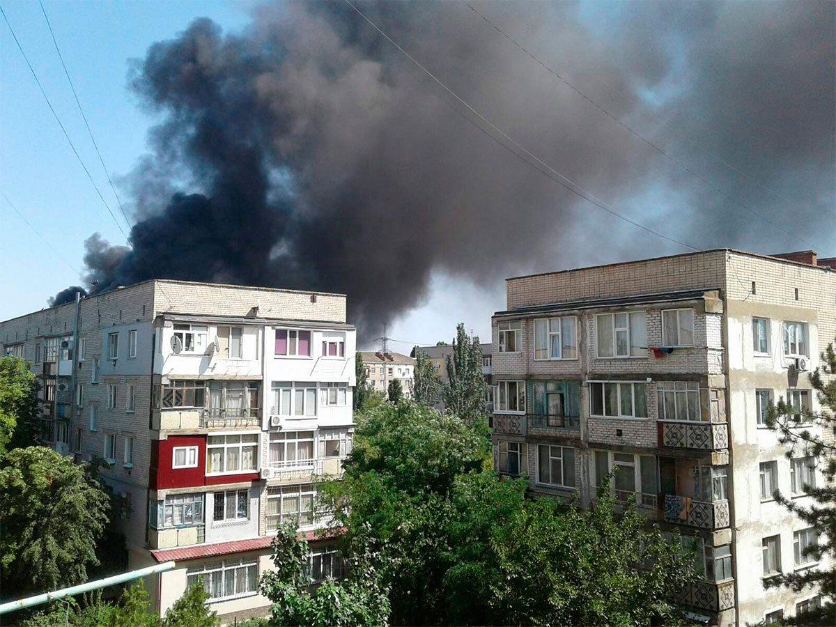 Херсонщина, Новая Каховка, пожар