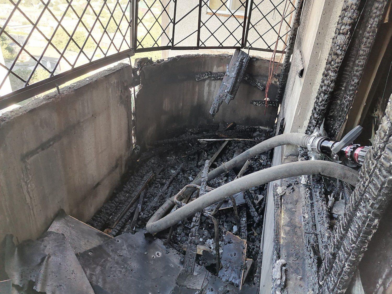 Херсон,пожар,балкон