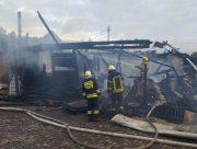 В Антоновке дотла сгорел двухэтажный дом